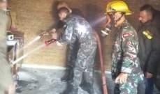 """إخماد حريق داخل مكتب إدارة """"مستشفى الهمشري"""" في المية ومية شرق صيدا"""