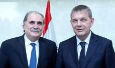 جريصاتي عرض مع لازاريني عمل منظمات الأمم المتحدة في لبنان