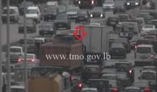 التحكم المروري: تصادم على أوتوستراد انطلياس وحركة المرور كثيفة