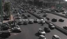 حركة المرور كثيفة من الصيفي باتجاه نهر الموت وصولا الى جل الديب