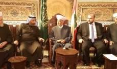 دريان التقى رئيس هيئة علماء فلسطين في الخارج