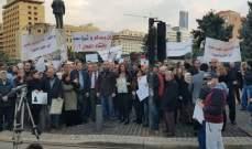 اعتصام لنقابة المالكين في رياض الصلح للمطالبة بمراسيم قانون الايجارات