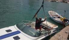 وحدة الإنقاذ البحري انتشلت زورقا سياحيا غرق في ميناء جونية