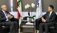 سفير الصين التقى خليل وأكد استعداد حكومة بلده لدعم مشاريع حكومة لبنان