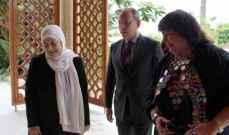 بهية الحريري استقبلت وزيرة الثقافة المصرية