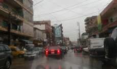النشرة: الامطار الغزيرة تتساقط على مناطق النبطية واقليم التفاح