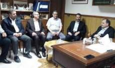 البزري بحث مع وفد حركة الجهاد الإسلامي أوضاع المخيمات الفلسطينية في لبنان