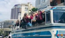 اليازا: صورة الباص الذي يقل متخرجين بالدكوانة دليل على انتهاك قانون السير
