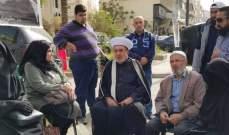 النشرة: المفتي سوسان يزور خيمة أهالي الموقوفين أمام دار الفتوى
