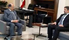 الرئيس عون استقبل النائب نعمة افرام وعرض معه مواضيع جبيل وكسروان الانمائية