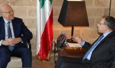 ميقاتي التقى السفير المصري وبحث معه العلاقات الثنائية