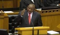 رئيس جنوب أفريقيا: نعتزم خفض مستوى العلاقات الدبلوماسية مع إسرائيل