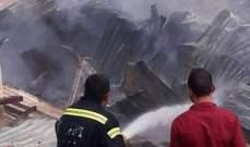 إخماد حريق غرفة لتجميع الأدوات الصناعية جانب منزل في عدوة بالضنية