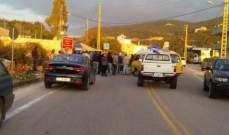 سقوط 4 جرحى في حادث سير على طريق صيدا جزين