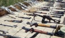 """""""سانا"""": العثور على أسلحة وذخائر متنوعة من مخلفات الإرهابيين بريف درعا"""