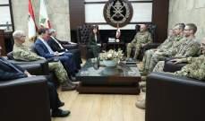 قائد الجيش شكر أميركا وبريطانيا على تنفيذ برنامج المساعدات الخاصة بتجهيز أفواج الحدود البرية