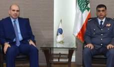 عثمان بحث مع لحود بسبل تعزيز التعاون المشترك بين وزارة الزراعة وقوى الأمن