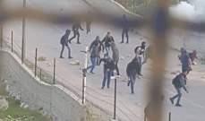 مواجهات بين فلسطينيين وعناصر من الجيش الاسرائيلي ببلدة تقوع ببيت لحم