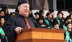 مطر: بفضل رئيس الجمهورية سنستعيد دورنا ومركزنا في العالم