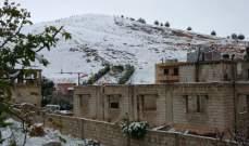 النشرة: تساقط الثلوج في بعلبك وإعاقة حركة مرور السيارات