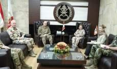 قائد الجيش استقبل مسؤول بريطاني ورئيسة أركان هيئة مراقبة الهدنة