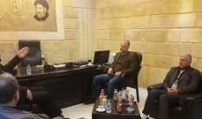 وفد من حماس بحث مع بسام كجكﻻخر التطورات على الساحتين اللبنانية والفلسطينية