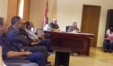 اجتماع في مكتب قائمقائم الهرمل لبحث الوضع الأمني في المدينة