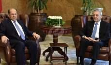 عون وبري توافقا على التريث بإعطاء المجرى الدستوري للرسالة الرئاسية بعد تقديم 10 نواب الطعن بالموازنة