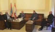 النائب سعد استقبل العميد شمس الدين في مكتبه في صيدا