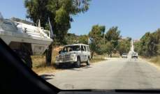 النشرة: قوة اسرائيلية تفقدت الطريق العسكري بين العديسة وبوابة فاطمة