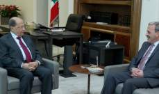 الرئيس عون التقى سفير لبنان في أميركا وعرض معه اوضاع الجالية