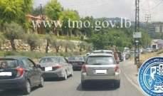 حركة المرور كثيفة من فيطرون باتجاه ميروبا بسبب رفع تمثال سيدة حراجل