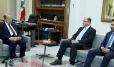 الرئيس عون استقبل وزير الزراعة حسن اللقيس وعرض معه شؤون الوزارة