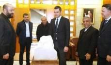 طوني فرنجية زار  جامعة سيدة اللويزة في الذوق والتقى رئيسها