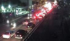حركة المرور كثيفة على بولفار بيار الجميل باتجاه الكرنتينا