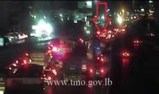 جريح نتيجة تصادم بين 3 مركبات على جسر انطلياس باتجاه جل الديب
