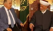 المفتي دريان استقبل رئيس هيئة الدفاع عن حقوق بيروت