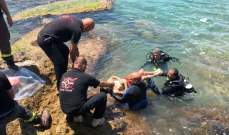 انتشال جثة الشاب السوري الذي غرق امس على شاطىء جبيل
