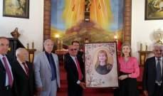 السفيرة سيف اختتمت جولتها البقاعية بقداس في بلدة حوش بردى