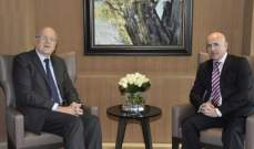 ميقاتي التقى سفير الأرجنتين وعرض معه التطورات في لبنان