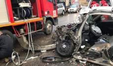 خمسة جرحى إثر حادث سير في المريجات بالبقاع الأوسط