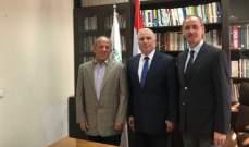 هيثم جمعة زار مقر الجامعة اللبنانية الثقافية في العالم والتقى رئيسها