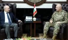 قائد الجيش بحث مع النائب عون بأوضاع البلد والتقى المسؤول العسكري واتكينس