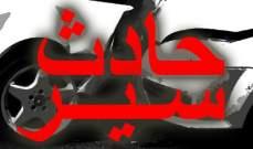 التحكم المروري: 5 جرحى بتصادم على طريق عام مزرعة يشوع وجريح في صيدا