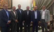 رعد استقبل وفد حركة حماس: سنبقى دائما إلى جانب حقوق الشعب الفلسطيني