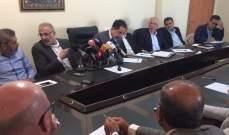 الحاج حسن شدد على أهمية الاتفاق على تشغيل مياه الصرف الصحي في ايعات