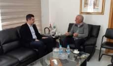 وزير الزراعة التقى طوني فرنجية وبحث معه شؤونا سياسية