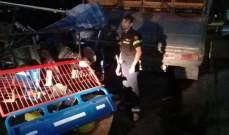 جريح في حادث اصطدام دراجة بشاحنة على الاوتوستراد الشرقي لمدينة صيدا