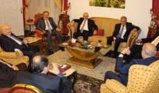 """لقاء في دارة الناشف جمع قيادة """"القومي"""" والسفيرين الروسي والسوري"""