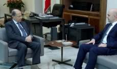 حاصباني أطلع الرئيس عون على نتائج لقاءاته في الولايات المتحدة